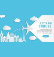 travel infographic web design vector image vector image