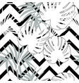 tropical seamless floral pattern with palm vector image vector image
