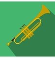 Trumpet simple flat icon vector image vector image