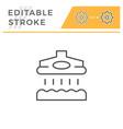 vacuum cleaner editable stroke line icon vector image