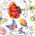 watercolor seamless floral vector image vector image