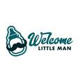 Welcome little man baby shower emblem