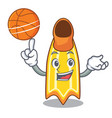 with basketball swim fin character cartoon vector image