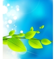 fresh nature background vector image