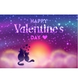 Romantic Valentines Day card of cute cats vector image