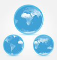Globe earth blue icons in polygonal style - symbol vector image