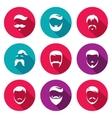 Retro Mens Hair Styles Icons Set vector image