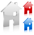 3d home symbol vector image vector image