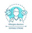 allergies doctors concept icon allergist