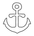 anchor icon outline vector image vector image