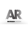 ar a r lines letter design with creative elegant vector image vector image