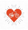 bicycle vehicle retro icon vector image vector image