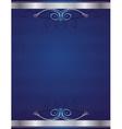 blue antique background vector image