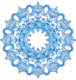 Blue Snowflake design vector image vector image