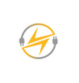bolt circle logo vector image