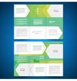 brochure folder leaflet geometric abstract arrows vector image vector image