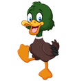Cartoon baby duck isolated on white background vector image vector image