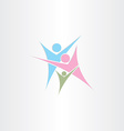 child mother father family logo icon design vector image vector image
