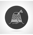 Climbing route black round icon vector image vector image