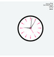 clock on background in flat style vector image