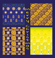 collection of seamless christmas patterns vector image vector image