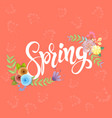 craft paper flowers spring background vector image vector image