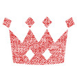 crown fabric textured icon vector image vector image