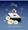 daisy realistic composition vector image vector image