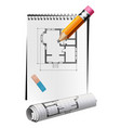 drawing draft vector image