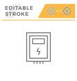 electric box line icon vector image vector image