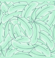 feather of bird seamless pattern green plume vector image