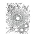 floral mandala pattern vector image vector image