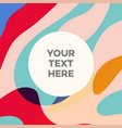 fluid abstract banner design vector image