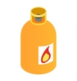 Gas bottle isometric 3d icon vector image