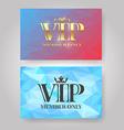Gold VIP Member card vector image