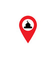 gps icon check in mosque for prayer vector image