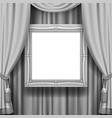 gray ornamental curtain background with a vector image vector image