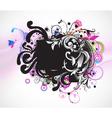 grunge colorful floral frame vector image vector image