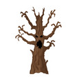 halloween tree halloween icon isolated on white vector image vector image