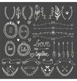 Hand drawn graphic set Wedding set of arrows vector image vector image