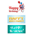 Happy birthday stickers vector | Price: 1 Credit (USD $1)