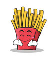 happy face french fries cartoon character vector image vector image