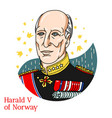 harald v norway portrait vector image