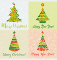holiday cards for new year and christmas vector image vector image
