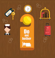 hotel services set icons vector image