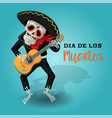 invitation poster to the day of the dead party vector image vector image