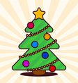 Kawaii Christmas tree vector image