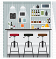 kitchen bar vector image