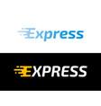 logistic logo arrow express delivery icon vector image vector image