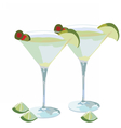 Martini cocktail isolated vector image vector image